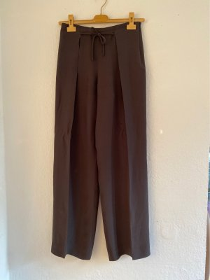 Armani Collezioni Pleated Trousers taupe acetate
