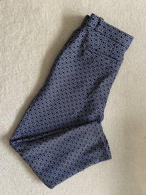 BAF Pantalon 7/8 blanc-bleu foncé