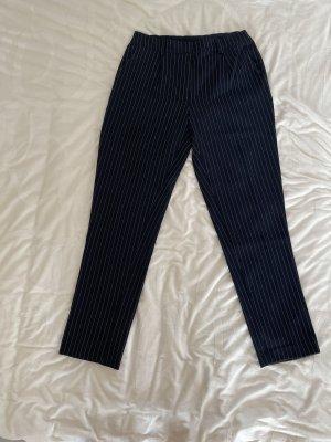 Pieces Pantalone jersey blu scuro-bianco