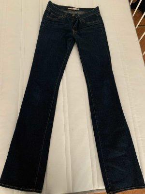 JBRAND Jeansowe spodnie dzwony ciemnoniebieski