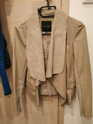 New Look Leather Blazer taupe-beige