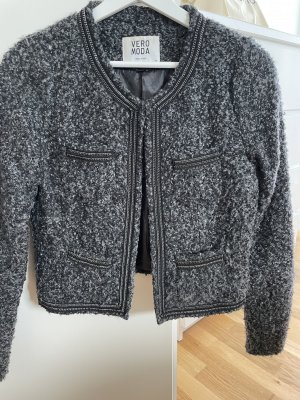 Vero Moda Korte blazer zwart-grijs