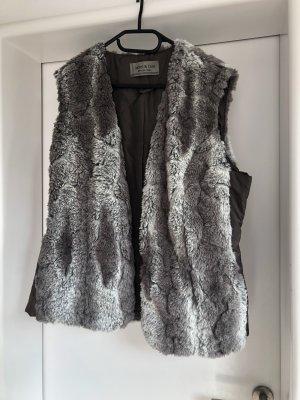 Jacket & Coat Veste en fausse fourrure gris