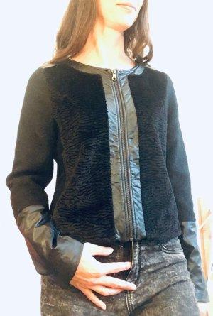 Friendtex Veste en laine noir