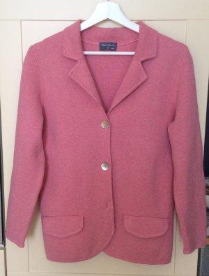 Peter Hahn Blazer in maglia rosa chiaro Cotone