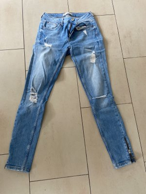 Gina Tricot Tube Jeans pale blue