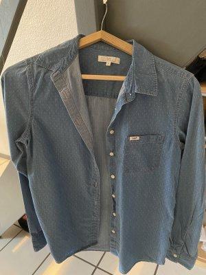 Lee jeans Blouse en jean bleu acier