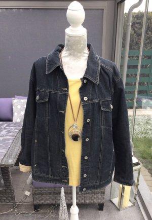 100% Fashion Spijkerjack zwart-antraciet