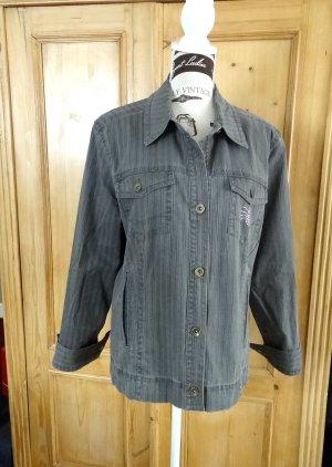 Zabaione Denim Jacket dark grey cotton