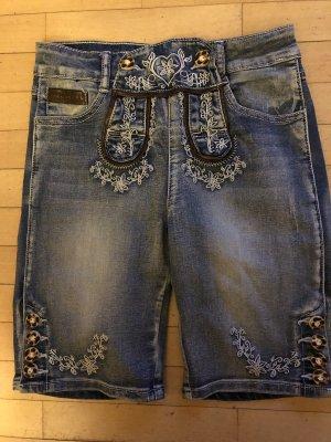 Schicke JeansLederHose - Gr. XS / 34 - NEU
