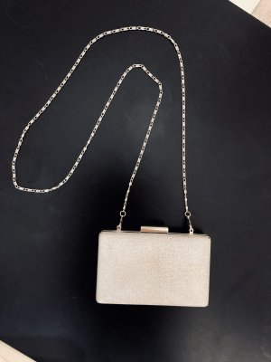 Schicke kleine Umhängetasche silber gläzend/glitzernd