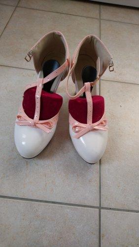 Tacones con plataforma blanco-rosa