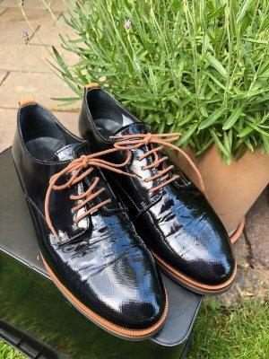 Maripé Zapatos estilo Oxford negro-marrón