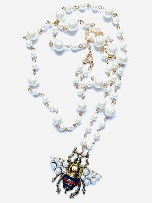 "Schicke Lange Vintage Kette Perlen ""Insekt"""