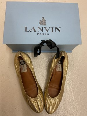 Lanvin Mary Jane Ballerinas sand brown leather