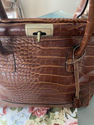 Schicke Leder Handtasche Arzttasche Style-wie neu