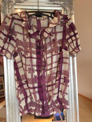 Schicke leicht transparente Bluse mit Schleifenmuster von Killah