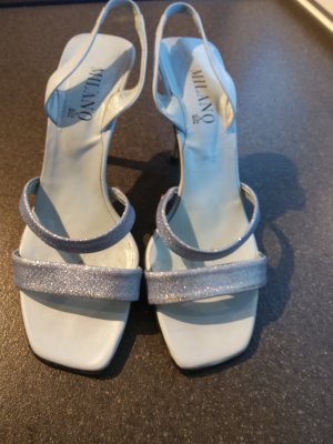Milano Strapped High-Heeled Sandals pale blue-azure