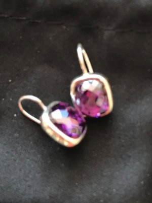 Thomas Sabo Dangle brown violet-silver-colored metal