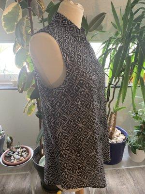 Schicke luftige Sommer Bluse schwarz /weiß 38