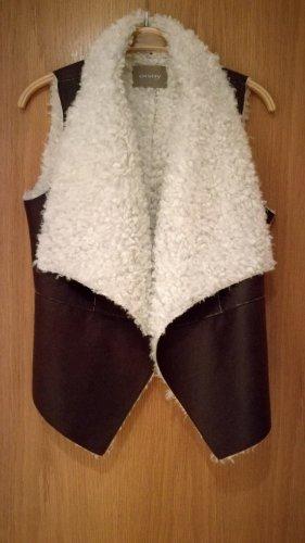 Orsay Smanicato di pelliccia bronzo-bianco sporco