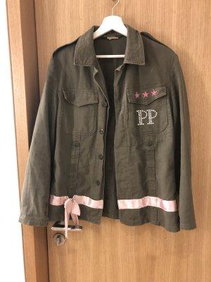 Philipp Plein Military Jacket green grey-light pink
