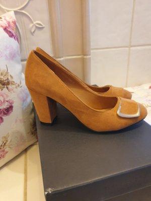Jumex High Heels cognac-coloured