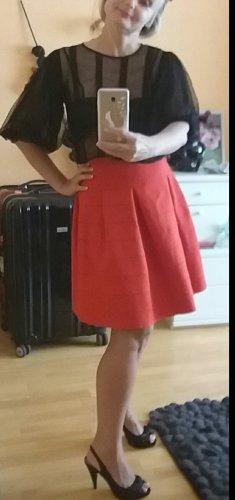 H&M Tweed Skirt red