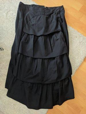 Promod Spódnica z falbanami czarny