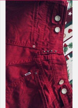Levi's Pantalón de cinco bolsillos rojo oscuro