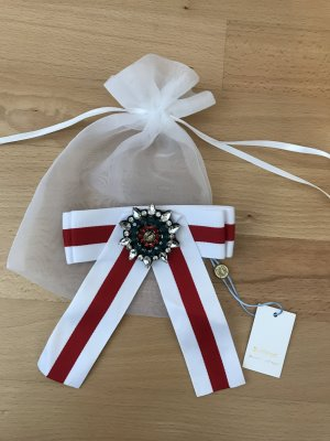 Rich & Royal Broche blanc-rouge foncé