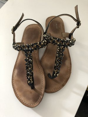 Another A Toe-Post sandals black-gold orange
