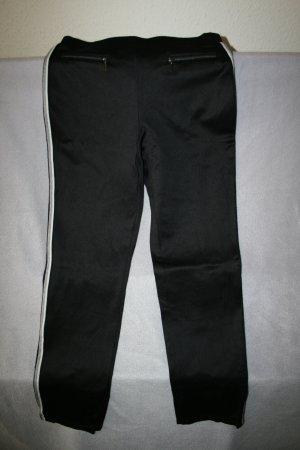 schicke Schlupfhose / Joggpants schwarz mit Gallonstreifen von CANDA