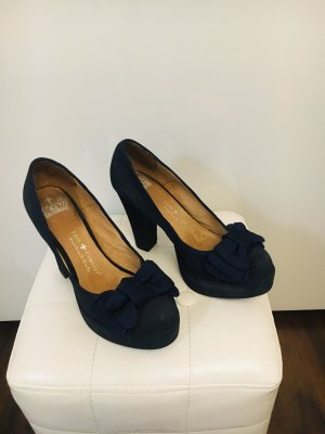 Schicke Schuhe Dunkel Blau