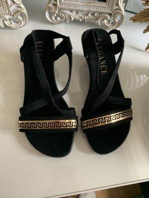 Ae boutique BY ELEGANCE S.A. PARIS Pumps met bandjes zwart-goud