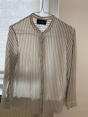 The Kooples Long Sleeve Blouse white-black silk