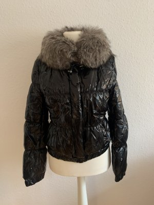 AC Futrzana kurtka czarny-beżowy