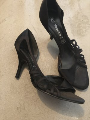 Schicke schwarze Schuhe high heels gr.39,5
