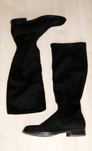 Schicke, schwarze Stiefel (Veloursleder-Optik) - NEU mit Original-Karton!!