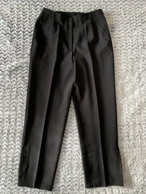 Schicke schwarze Stoffhose mit Strass