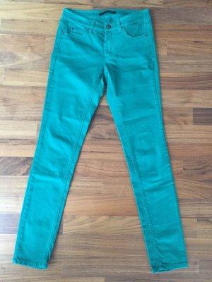 Schicke Set Jeans grün Neu 36