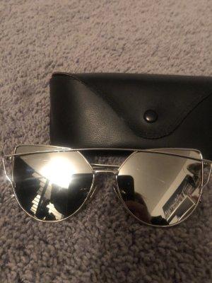 Panto Glasses silver-colored-black