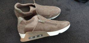 ASH Sneaker con zeppa color cammello Pelle