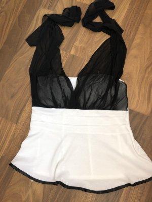 Rosa Top senza maniche bianco-nero