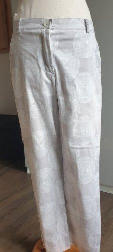 Vivance Pantalone a 7/8 bianco-grigio chiaro
