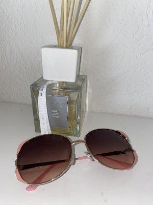 Bijou Brigitte Lunettes de soleil ovales doré-rose