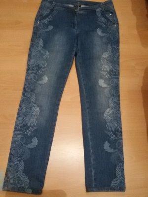 Sportalm Kitzbühl Pantalone cinque tasche blu acciaio