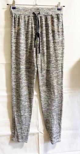 schicke sportliche Hose in Grau mit Steinchen, Gr. L