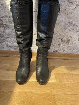 Schicke Stiefel Just Cavalli dunkelgrüne Gr 41