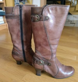 Caprice Heel Boots brown